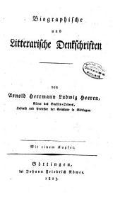 Historische Werke von Arnold Herrmann Ludwig Heeren: -3. Th. Vermischte historische Schriften. 1821