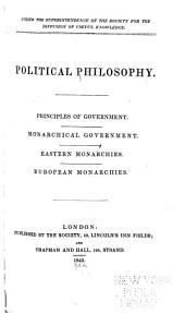 Principles of government. Monarchical government. Eastern monarchies