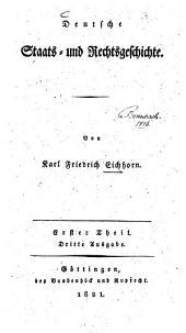 Deutsche Staats- und Rechtsgeschichte: 1