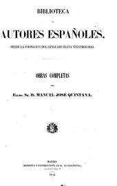 Obras completas del excmo. sr. d. Manuel José Quintana