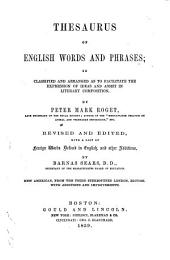 Thesaurus of English Words and Phrases: ... Rev. and Ed., with a List of Foreign Words Defined in English, and Other Additions