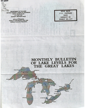 Monthly Bulletin of Lake Levels for the Great Lakes PDF