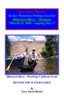 BTWE Bitterroot River   March 29  2009   Montana PDF