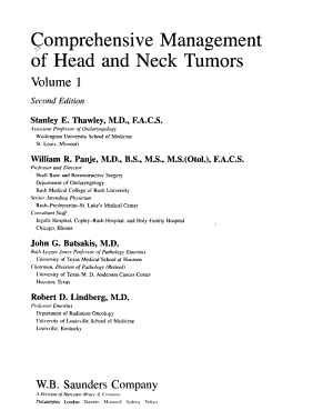 Comprehensive Management of Head and Neck Tumors PDF