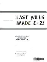 Last Wills Made E Z  PDF