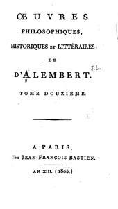 Oeuvres philosophiques, historiques et littéraires: Volume12