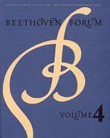 Beethoven Forum 4 PDF