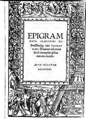 Epigrammata ad emendatum exemplar ipsius autoris excusa
