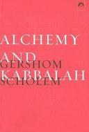 Alchemy and Kabbalah