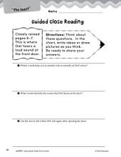 Owl at Home Close Reading and Text-Dependent Questions