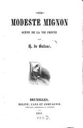 Modeste Mignon: Scènes de la vie privée, Volume1