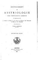 Zeitschrift fu r assyriologie und vorderasiatische archa ologie PDF