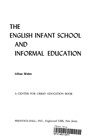 The English Infant School and Informal Education