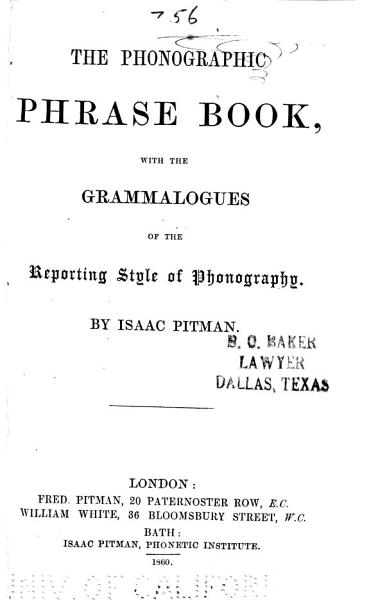 The Phonographic Phrase Book