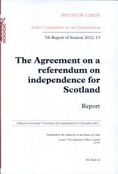 Agreement On A Referendum On Independence For Scotland Book PDF