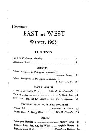Literature East   West PDF