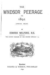 The Windsor Peerage for 1890-1894