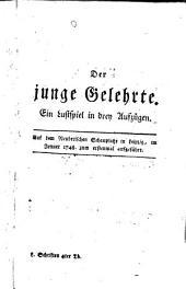 Schrifften: Der junge Gelehrte. Die Juden, Band 4