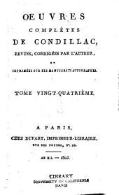 Œuvres complètes de Condillac: Volumes24à25
