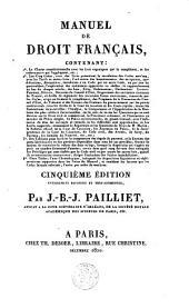 Manuel de droit français