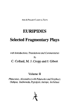 Euripides  Selected Fragmentary Plays  Volome II PDF