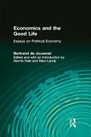 Economics and the Good Life PDF