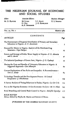 The Nigerian Journal of Economic and Social Studies PDF