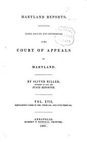 Maryland Reports: Containing Cases Argued and Adjudged in the Court of Appeals of Maryland, Volume 17