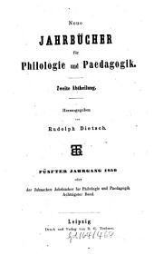 Neue Jahrbücher für Philologie und Pädagogik: Band 80