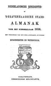 Nederlandsche residentie- en 's Gravenhaagsche stads-almanak voor ....: Volume 11