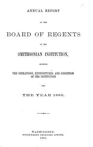 Annual Report of the Board of Regents of the Smithsonian Institution PDF