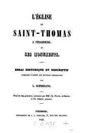 L' église de Saint-Thomas a Strasbourg, et ses monuments: orné de cinq gravures ...