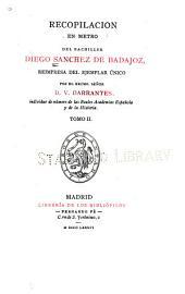 Recopilacion en metro del bachiller Diego Sanchez de Badajoz: Volumen 12