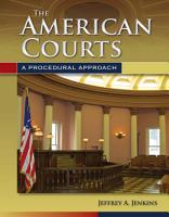 The American Courts  A Procedural Approach PDF