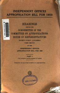Independent Offices Appropriation Bill for 1950 PDF