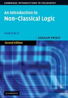 An Introduction to Non Classical Logic PDF
