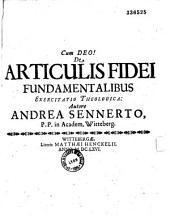De articulus fidei fundamentalibus exercitatis theologica