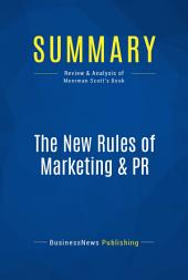 Summary: The New Rules of Marketing & PR: Review and Analysis of Meerman Scott's Book