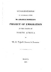 Suggestions in accordance with mr. Amabile Bonello's project of emigration in the coasts of north Africa