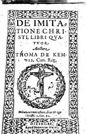 De imitatione Christi: Libri Qvatuor