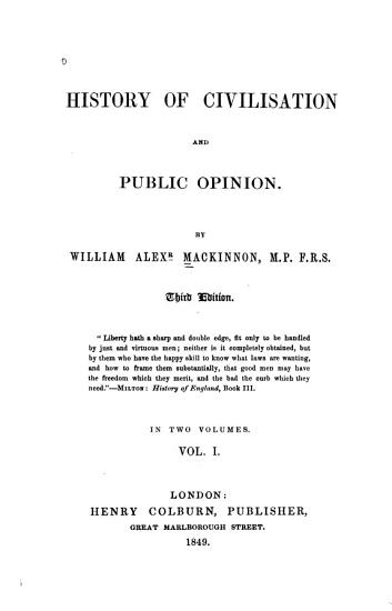 History of Civilisation and Public Opinion PDF