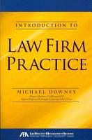 Introduction to Law Firm Practice PDF