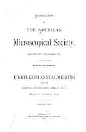 Transactions of the American Microscopical Society: Volumes 17-18