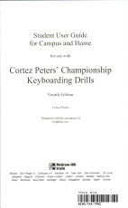 Student User Guide for Campus and Home for use with Cortez Peter s Championship Keyboarding Drills PDF