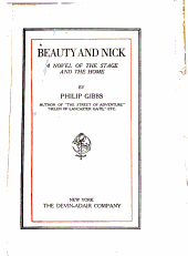 Beauty and Nick: a novel of the stage and the home