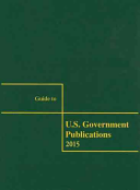 Guide to U.s. Government Publications 2015