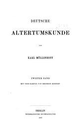 Deutsche altertumskunde: Band 2