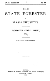 Pamphlets on Forestry in Massachusetts: Volume 9