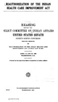 Hearings  Reports and Prints of the Senate Select Committee on Indian Affairs PDF