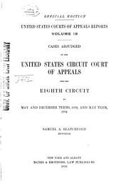 United States Courts of Appeals Reports: Cases Adjudged in the United States Circuit Court of Appeals, Volume 19